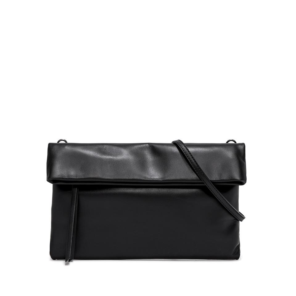GIANNI CHIARINI: CHERRY LARGE BLACK CLUTCH BAG