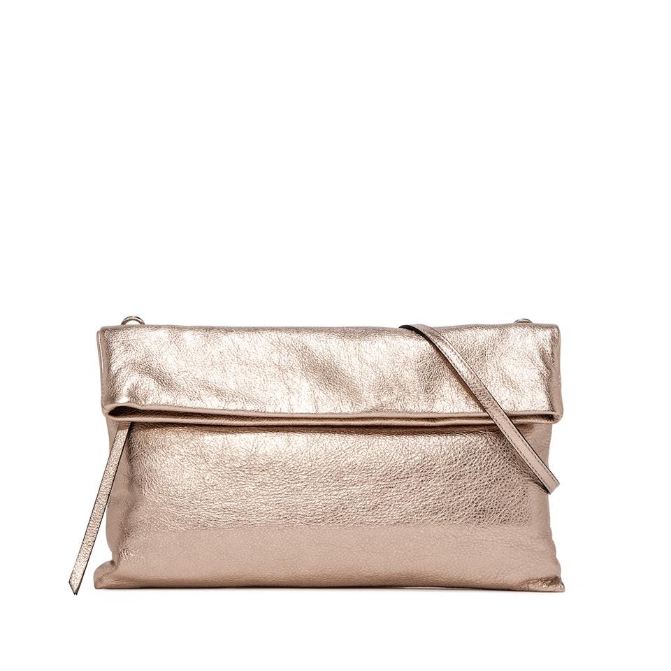GIANNI CHIARINI: CHERRY LARGE WHITE CLUTCH BAG