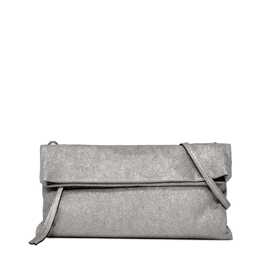 GIANNI CHIARINI: MEDIUM SIZE CHERRY CLUTCH BAG COLOR SILVER