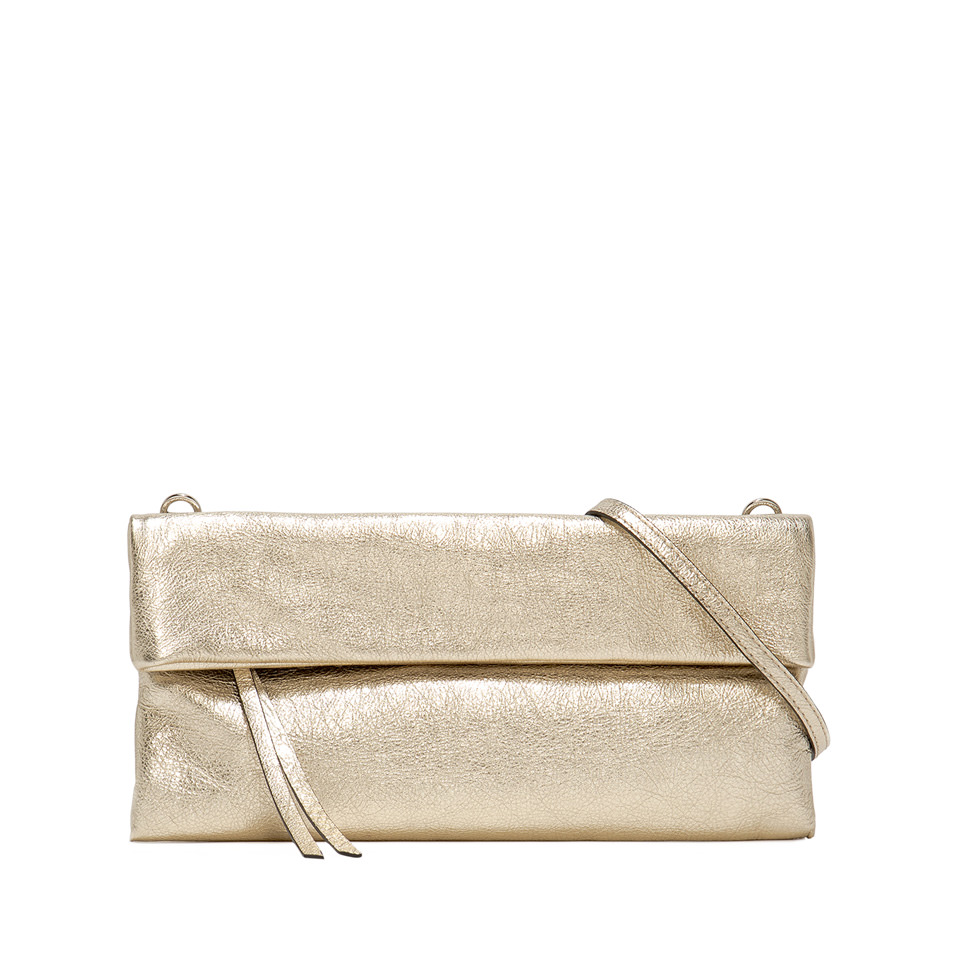 GIANNI CHIARINI: MEDIUM SIZE CHERRY CLUTCH BAG COLOR GOLD