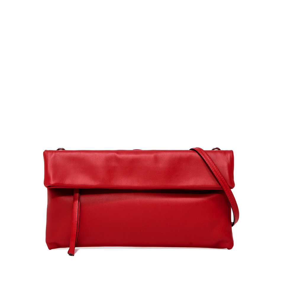 GIANNI CHIARINI: MEDIUM SIZE CHERRY CLUTCH BAG RED
