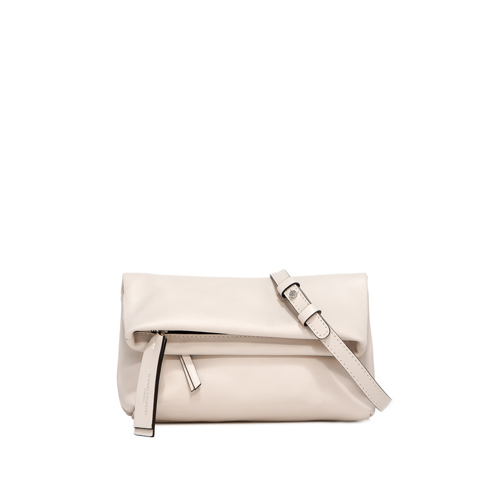 GIANNI CHIARINI: SMALL SIZE MINI CHERRY BAG COLOR WHITE
