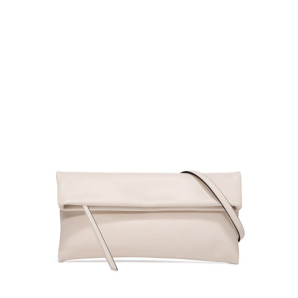 GIANNI CHIARINI: CHERRY SMALL WHITE CLUTCH BAG