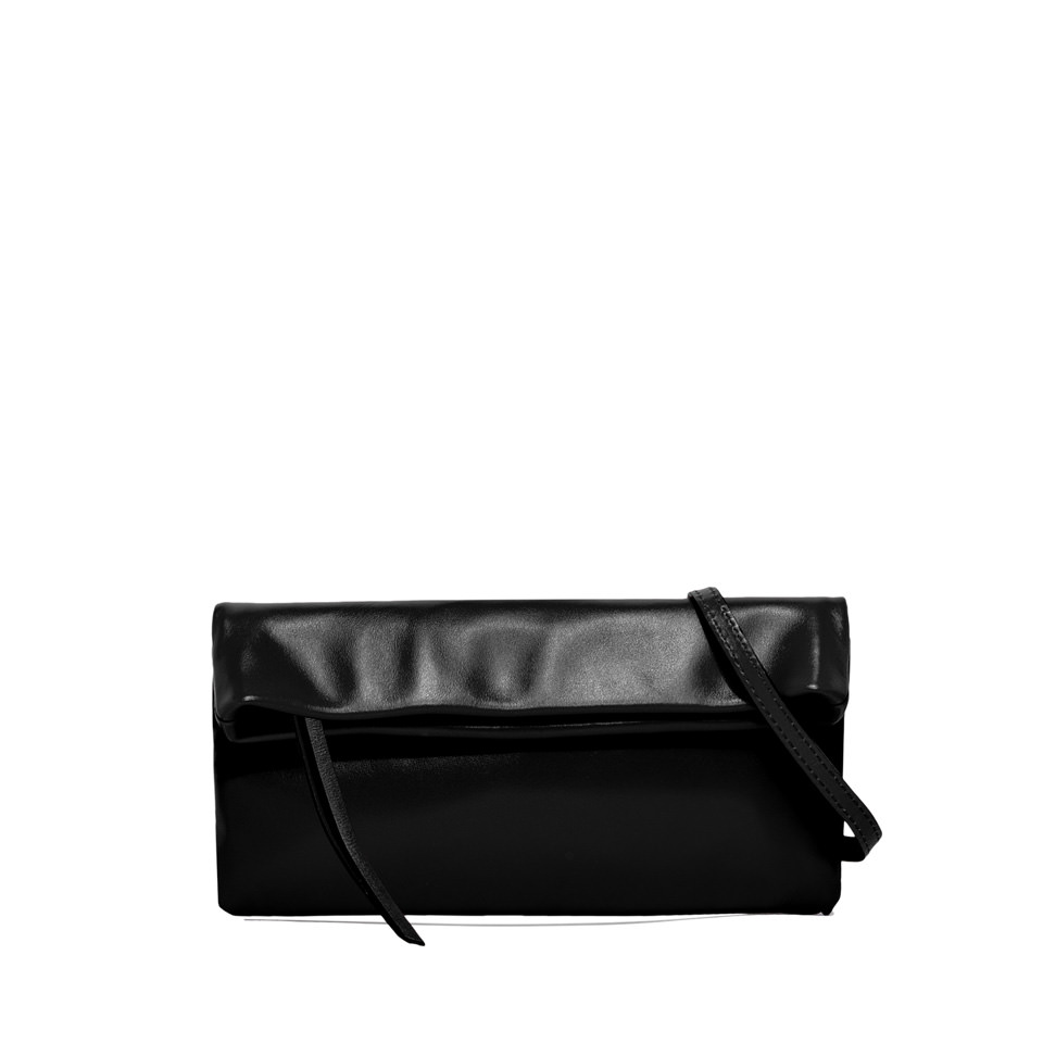 GIANNI CHIARINI: SMALL SIZE CHERRY CLUTCH BAG COLOR BLACK