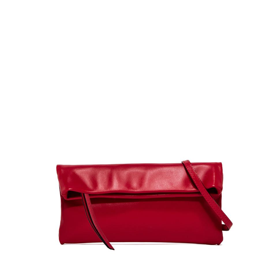 GIANNI CHIARINI: CHERRY SMALL RED CLUTCH BAG