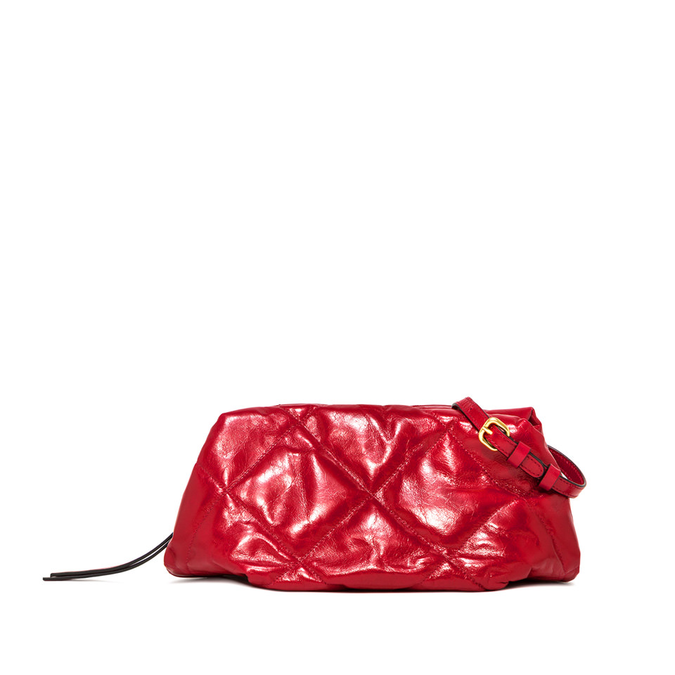 GIANNI CHIARINI: MEDIUM SIZE COLETTE CLUTCH BAG COLOR RED