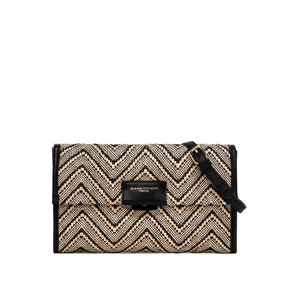 GIANNI CHIARINI: LARGE SIZE ELETTRA CLUTCH COLOR BEIGE