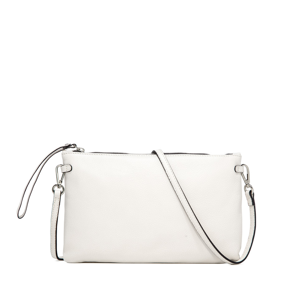 GIANNI CHIARINI: HERMY  LARGE WHITE CLUTCH BAG