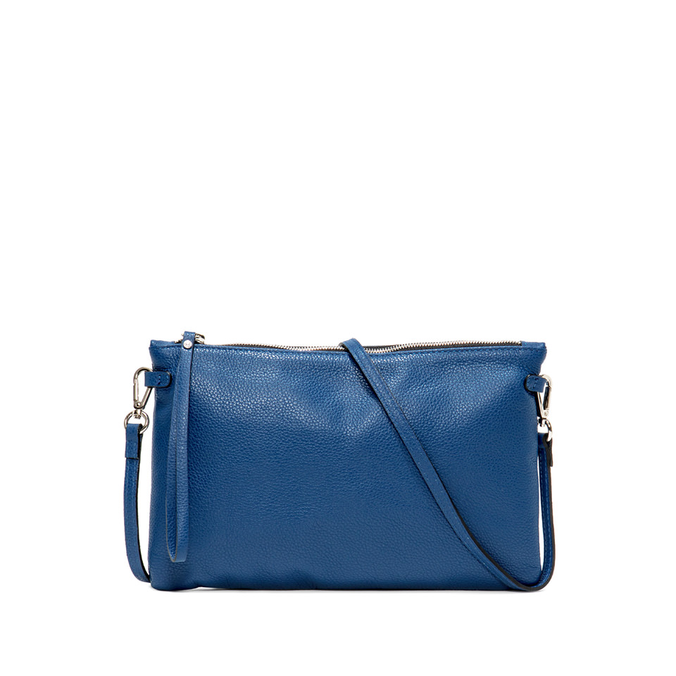 GIANNI CHIARINI: HERMY  LARGE BLUE CLUTCH BAG