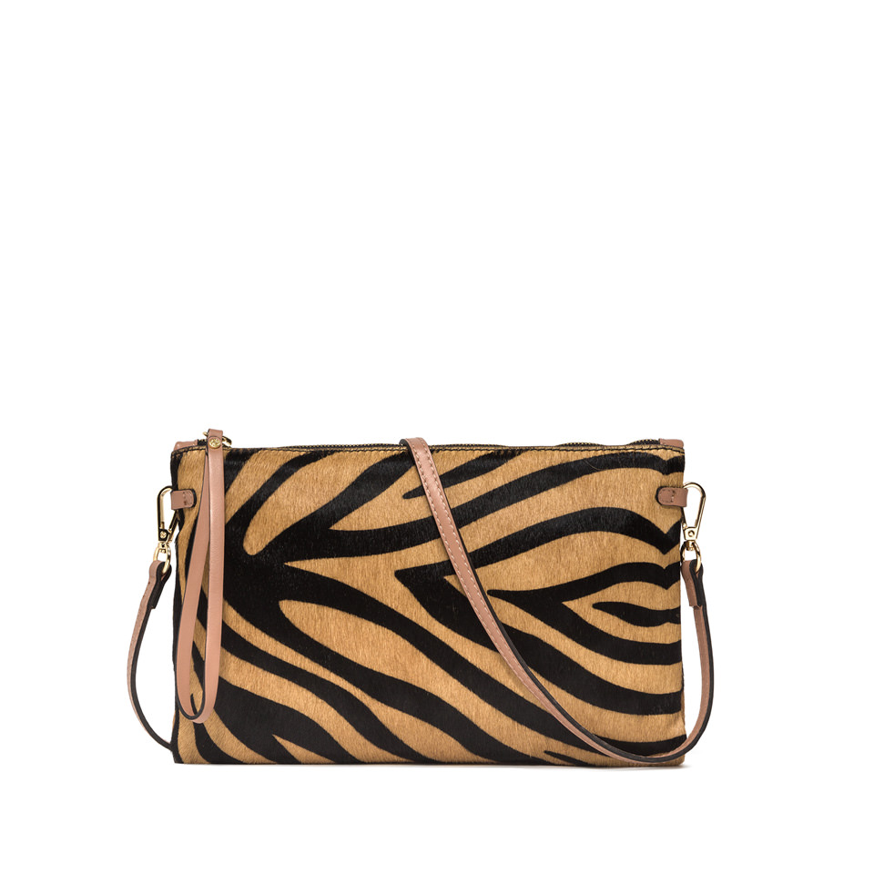 GIANNI CHIARINI: LARGE SIZE HERMY CLUTCH COLOR BROWN