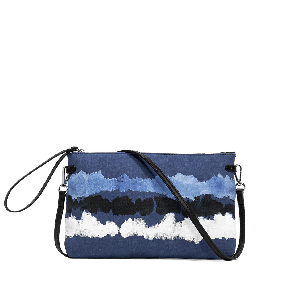 GIANNI CHIARINI: MARCELLA LARGE BLUE CLUTCH BAG
