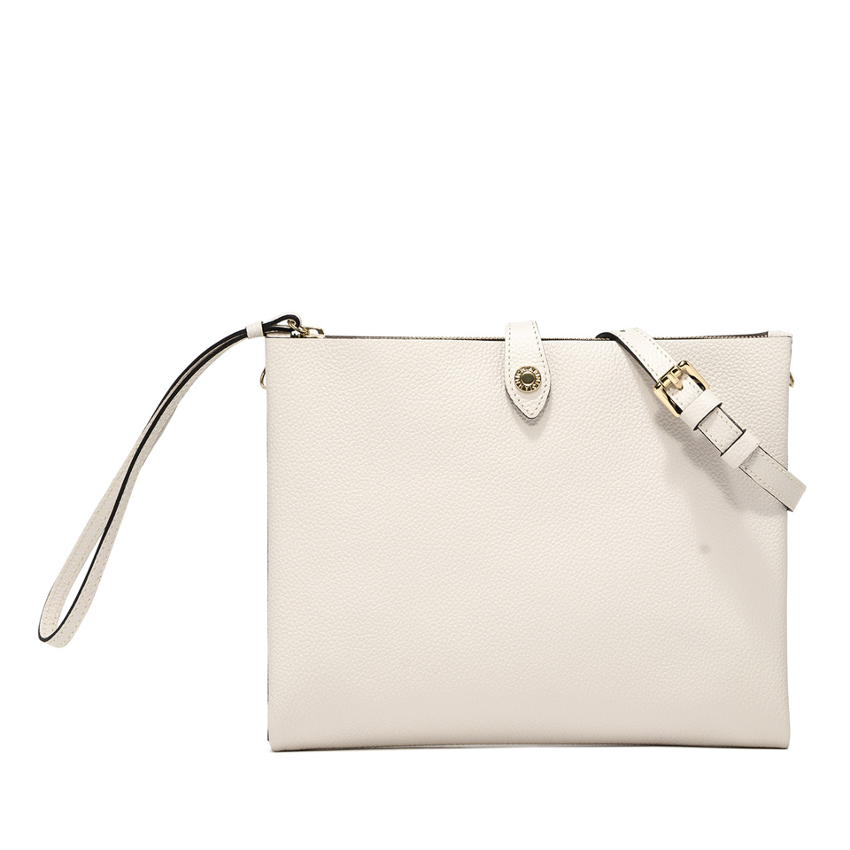 GIANNI CHIARINI: PALOMA LARGE WHITE CLUTCH BAG