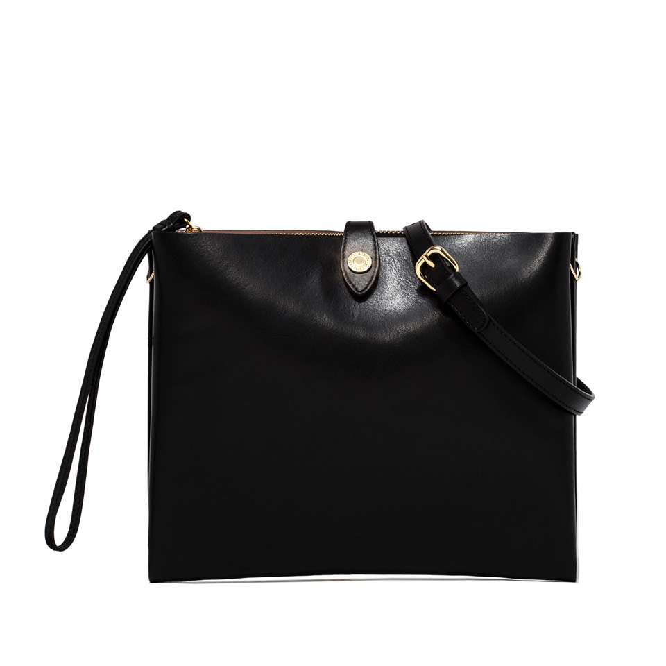 GIANNI CHIARINI: PALOMA LARGE BLCK CLUTCH BAG