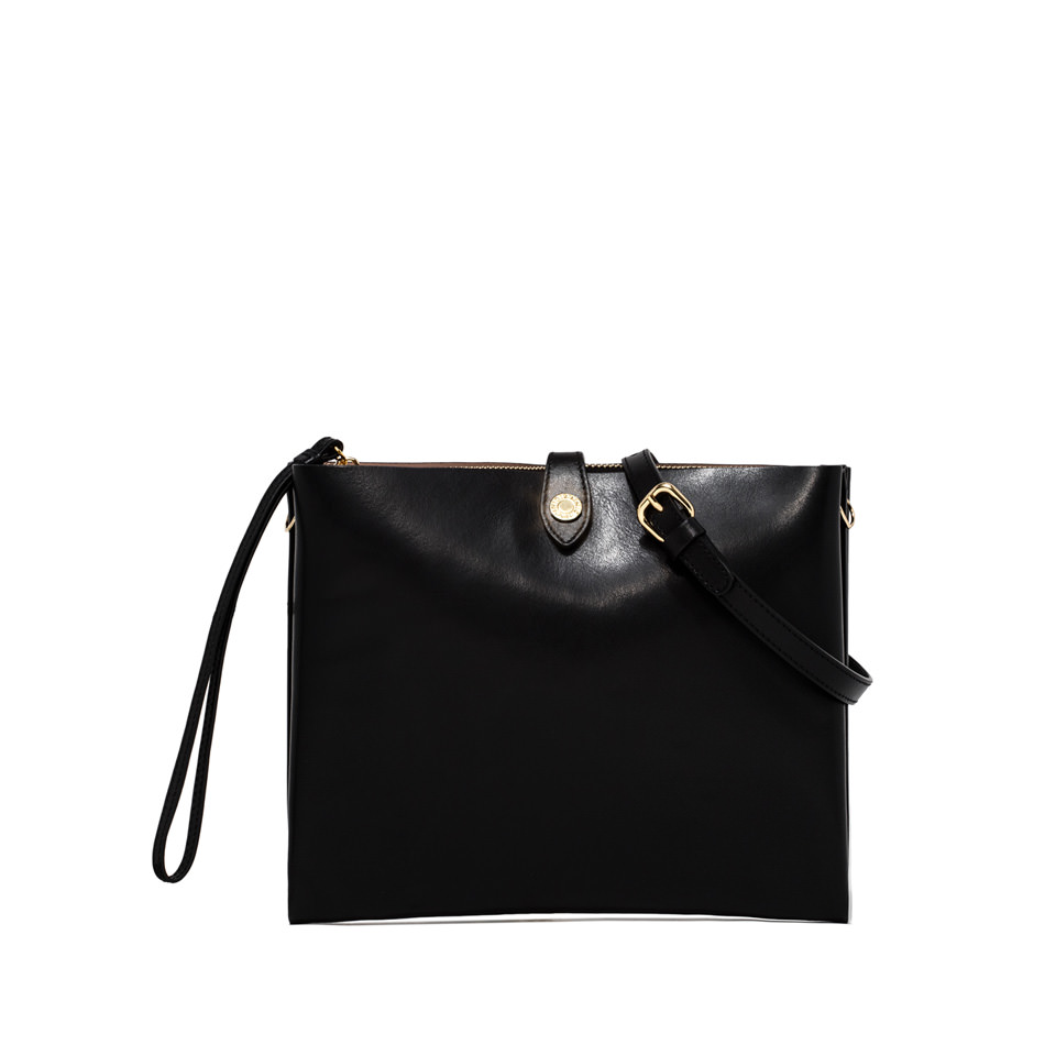 GIANNI CHIARINI: PALOMA MEDIUM BLACK CLUTCH BAG