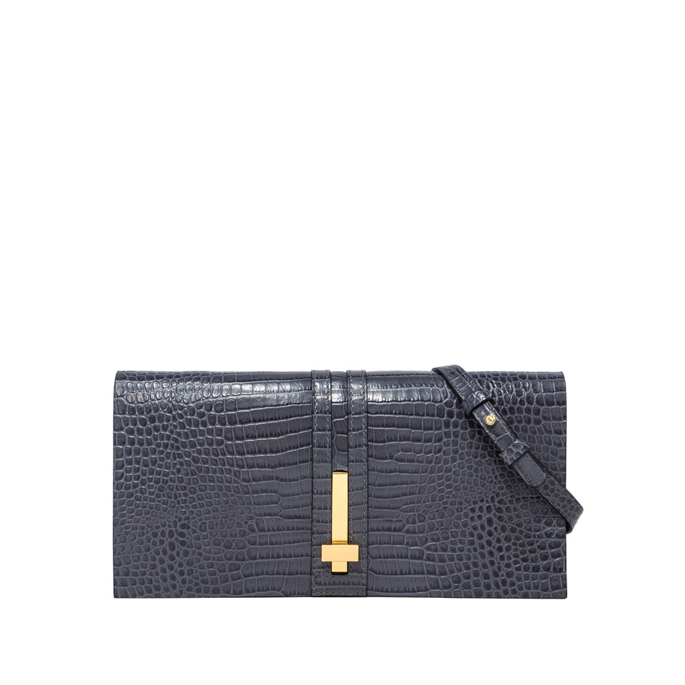 GIANNI CHIARINI: MEDIUM SIZE PREZIOSA CLUTCH BAG COLOR GRAY