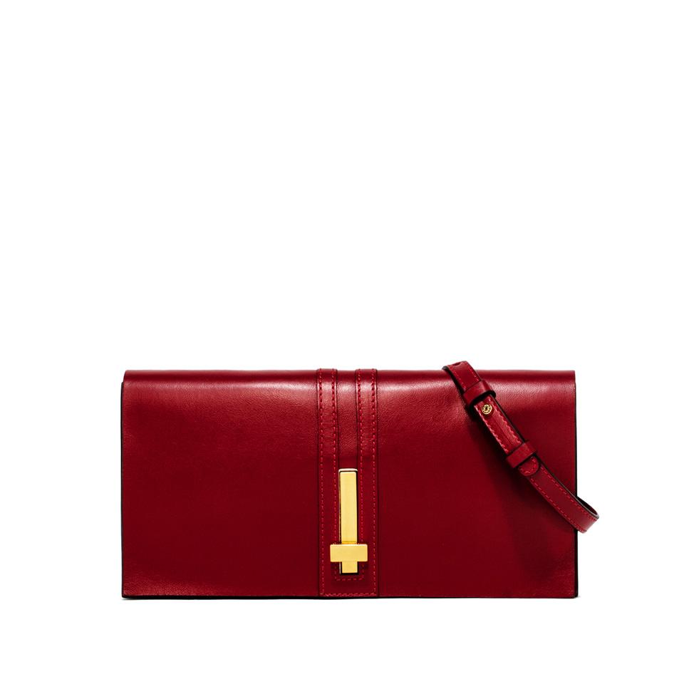 GIANNI CHIARINI: PREZIOSA MEDIUM RED CLUTCH BAG