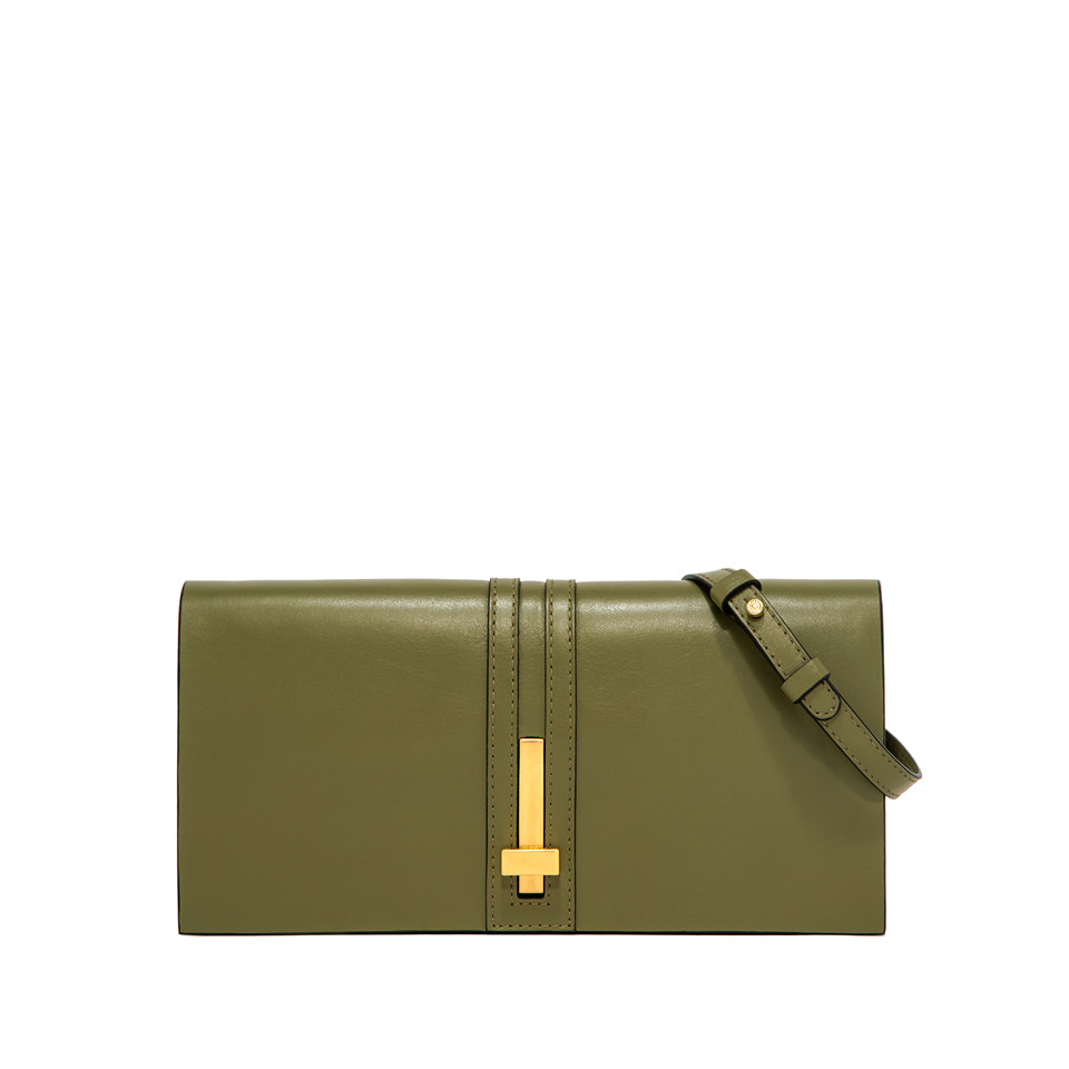GIANNI CHIARINI: MEDIUM SIZE PREZIOSA CLUTCH BAG COLOR GREEN
