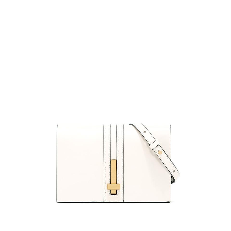 GIANNI CHIARINI: SMALL SIZE PREZIOSA CLUTCH BAG COLOR WHITE