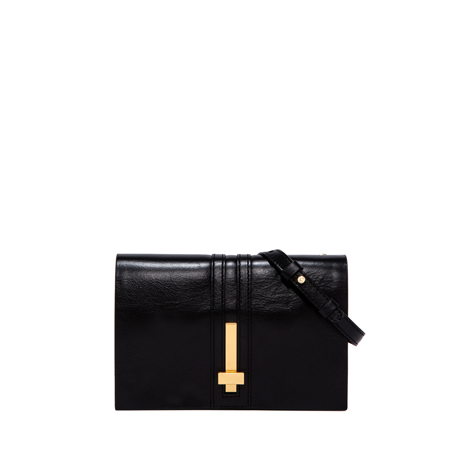 GIANNI CHIARINI: SMALL SIZE PREZIOSA CLUTCH BAG COLOR BLACK
