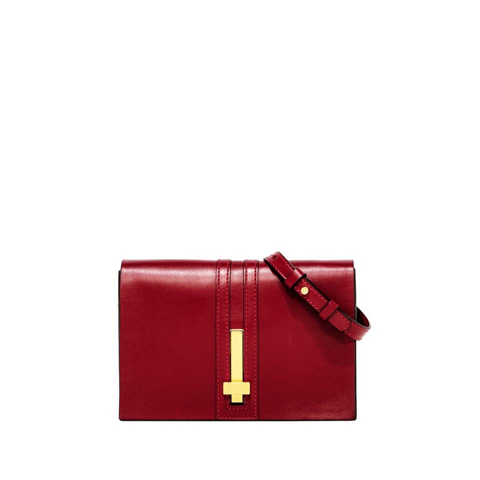 GIANNI CHIARINI: PREZIOSA SMALL RED CLUTCH BAG