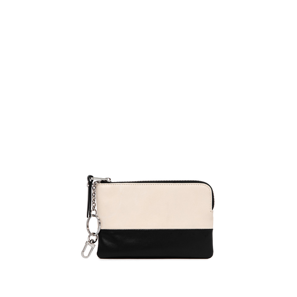 GIANNI CHIARINI: BICOLORED SMALL WHITE WALLET