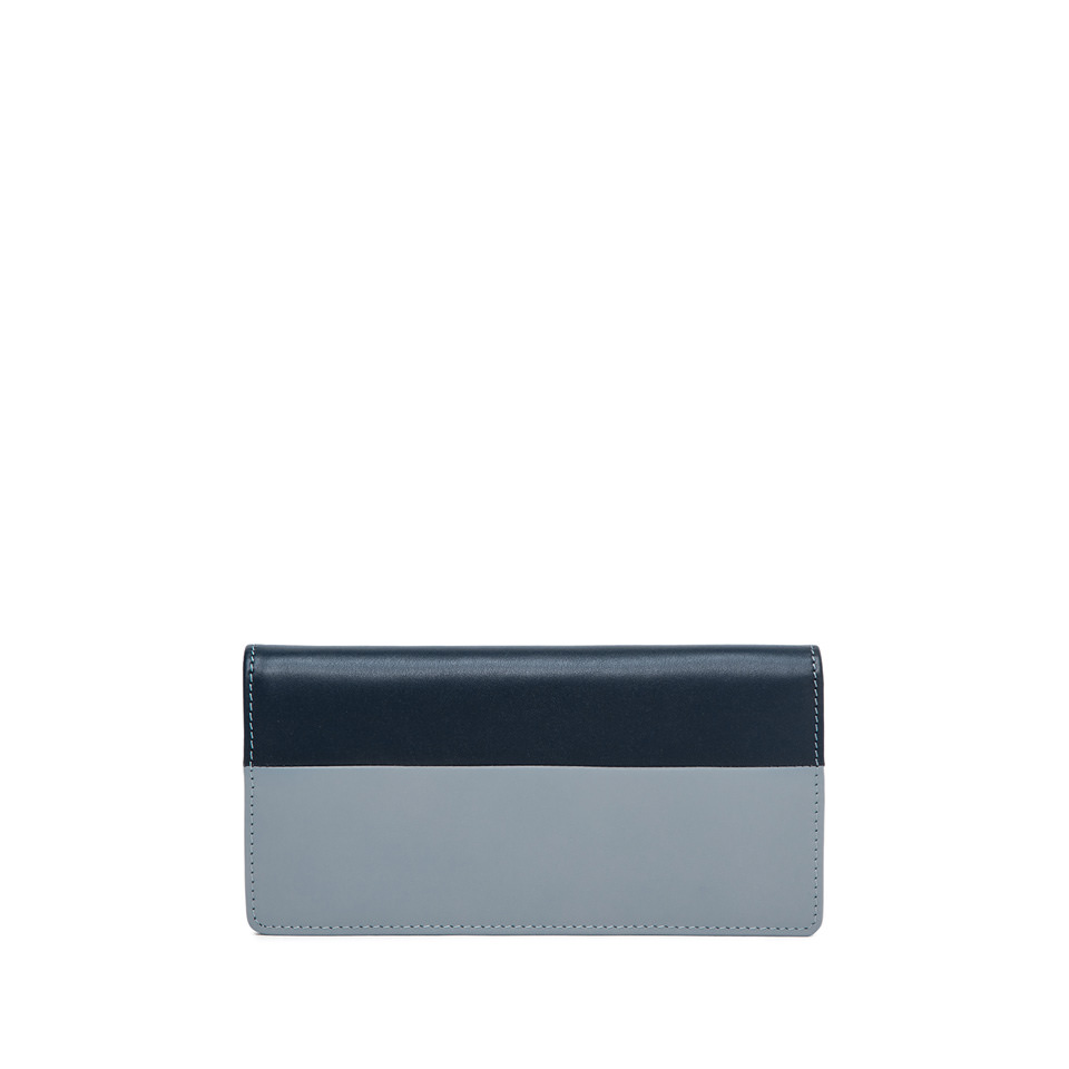 GIANNI CHIARINI: BICOLORED LARGE LIGHT BLUE AND BLUE WALLET