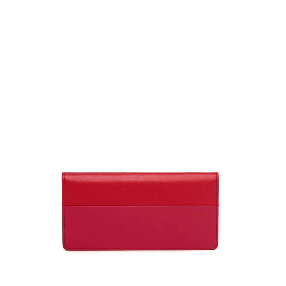 GIANNI CHIARINI: BICOLORED LARGE FUXIA AND RED WALLET