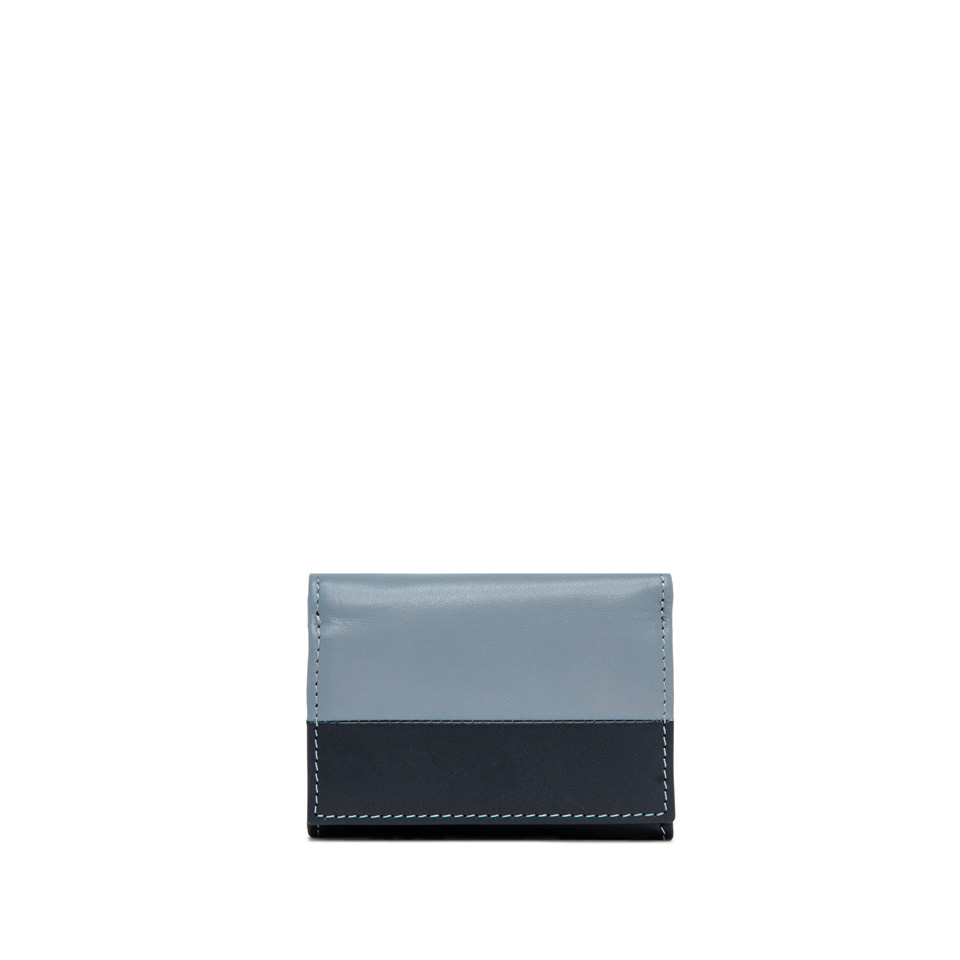 GIANNI CHIARINI: BICOLORED SMALL LIGHT BLUE AND BLUE  WALLET