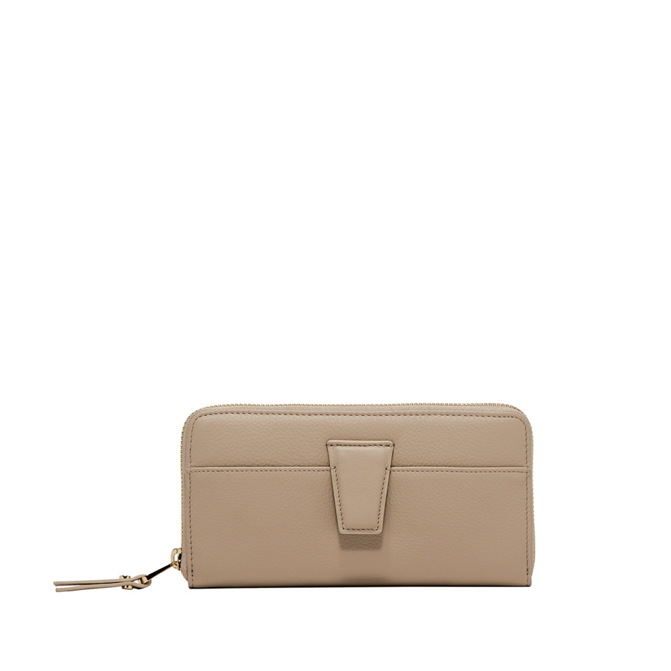 GIANNI CHIARINI: LARGE SIZE ELETTRA WALLET COLOR BEIGE