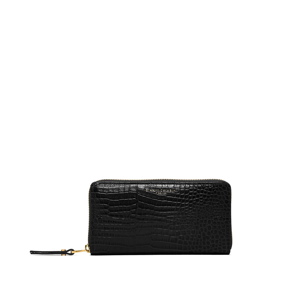 GIANNI CHIARINI: LARGE SIZE ESSENTIAL WALLET COLOR BLACK