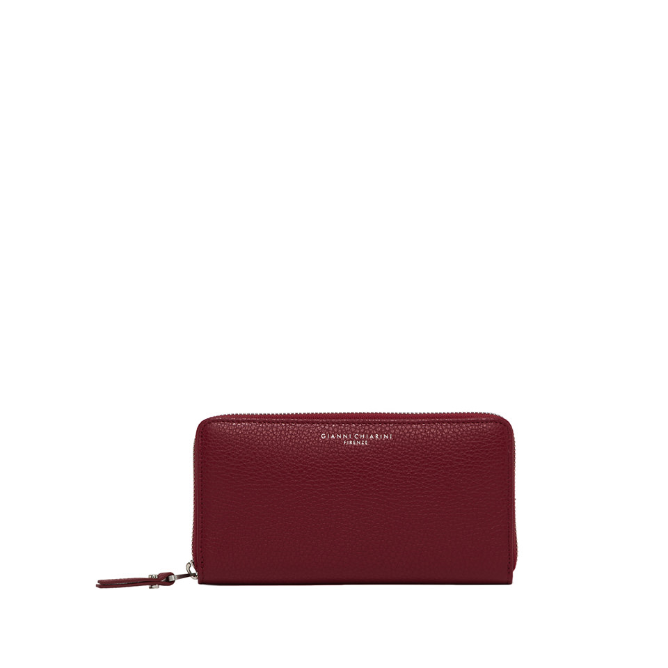 GIANNI CHIARINI: LARGE SIZE ESSENTIAL WALLET COLOR RED