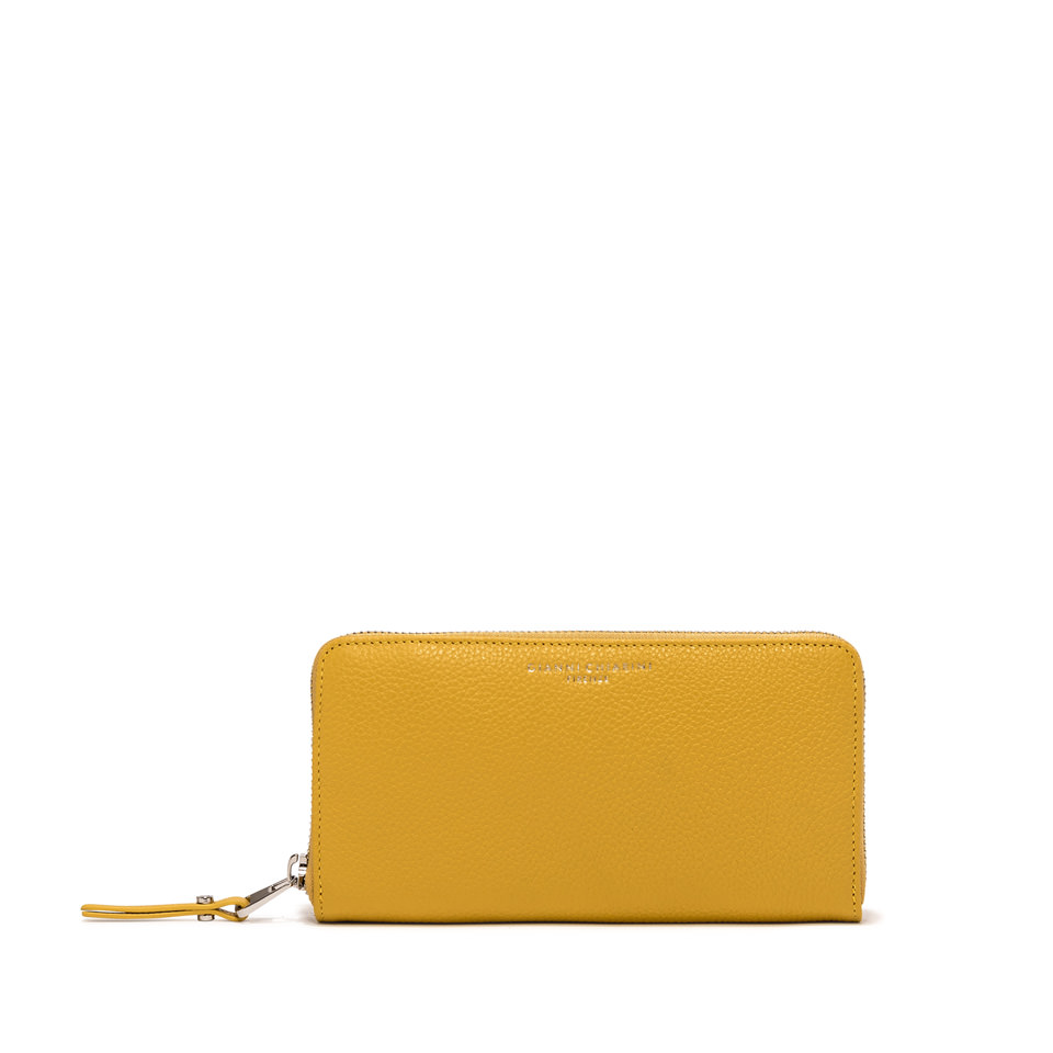 GIANNI CHIARINI: WALLET ESSENTIAL OASI LARGE COLOR YELLOW