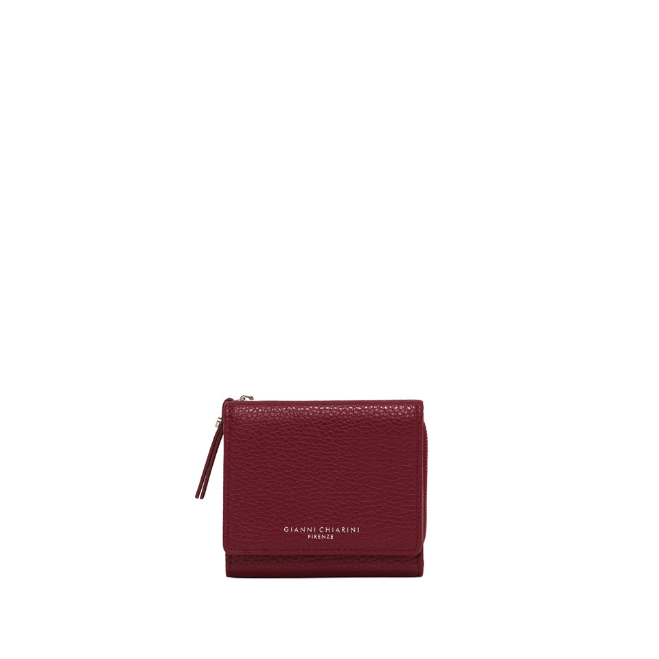 GIANNI CHIARINI: MEDIUM SIZE ESSENTIAL ZIP WALLET COLOR RED