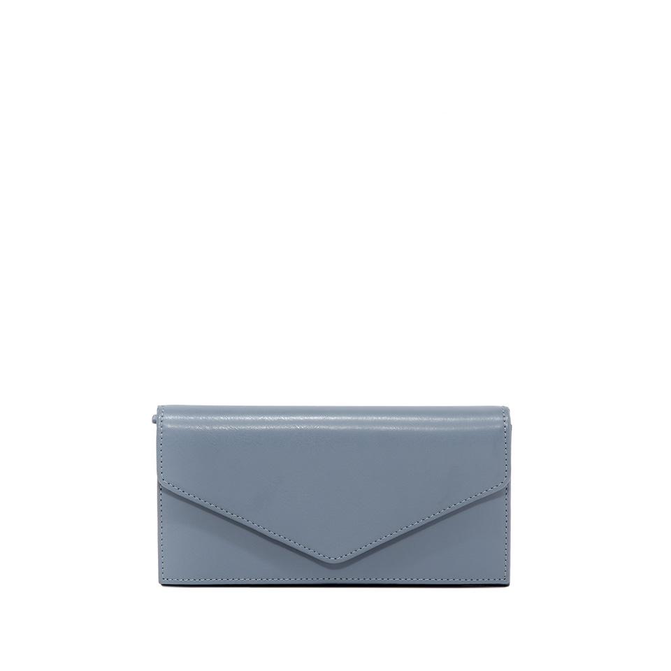 GIANNI CHIARINI: GRETA LARGE LIGHT BLUE WALLET