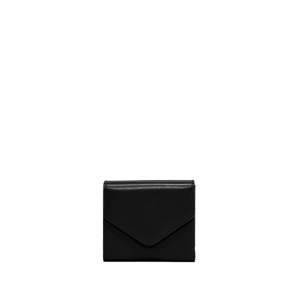 GIANNI CHIARINI: GRETA SMALL BLACK WALLET