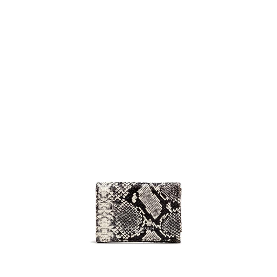 GIANNI CHIARINI: SMALL SIZE PYTHON WALLET COLOR GREY