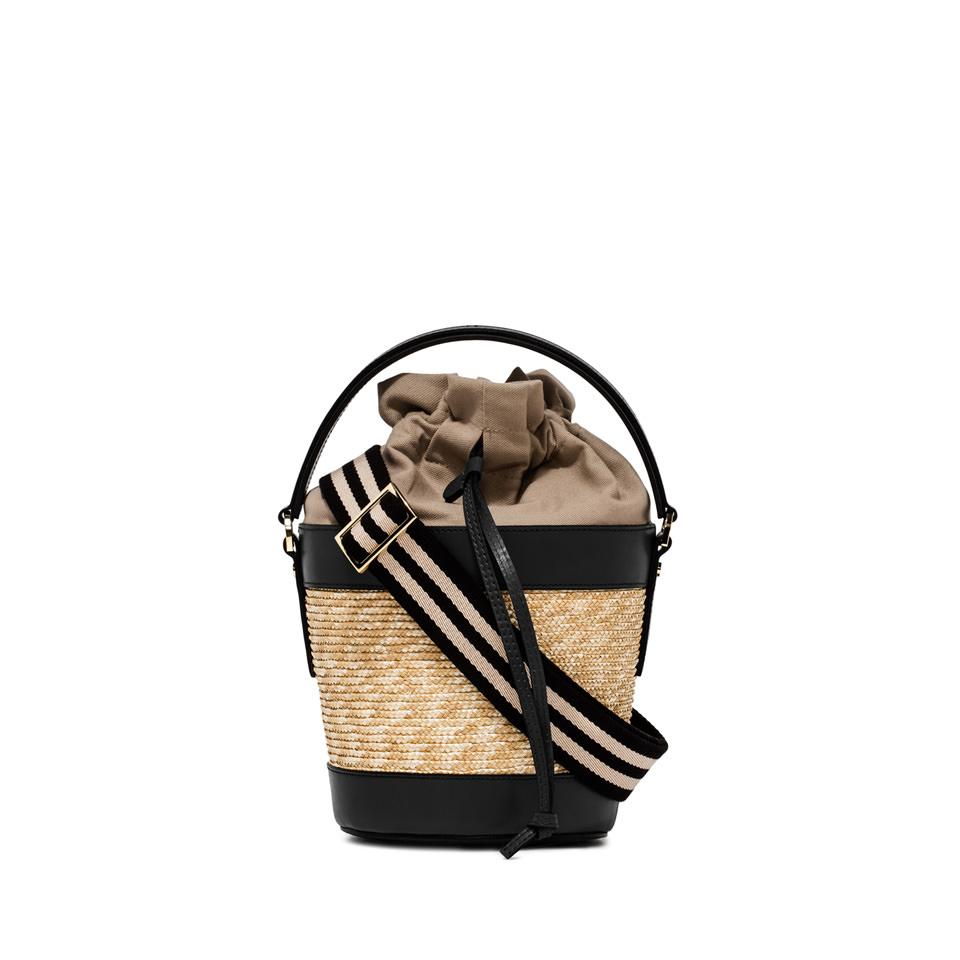 GIANNI CHIARINI: FIORENZA LARGE BLACK BUCKET BAG