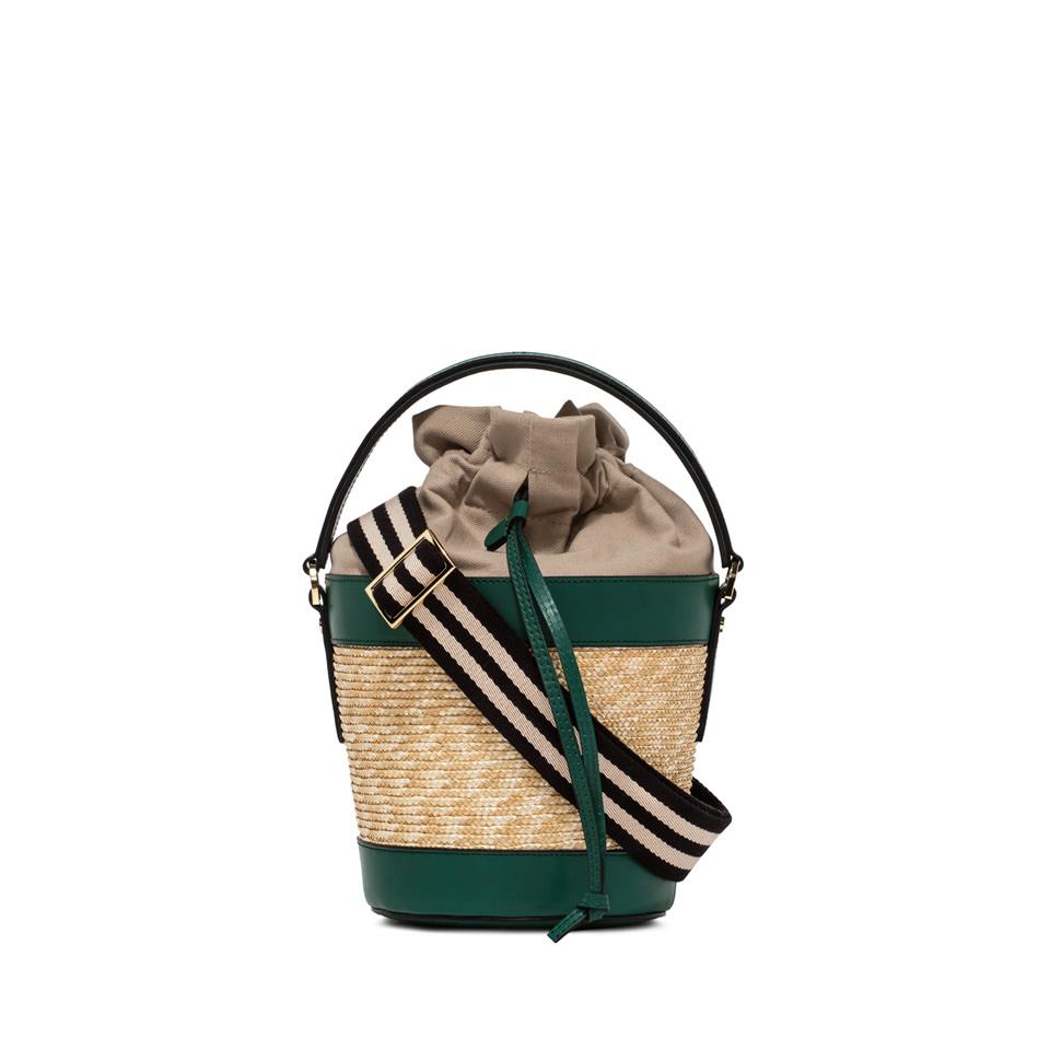 GIANNI CHIARINI: FIORENZA LARGE GREEN BUCKET BAG