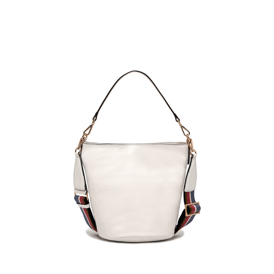 GIANNI CHIARINI: SECCHIELLO JACKY BUCKET MEDIUM BIANCO