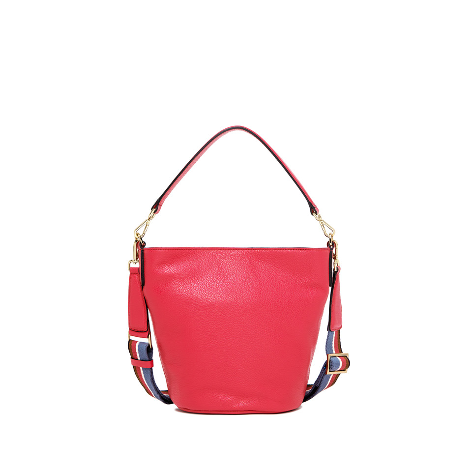 GIANNI CHIARINI: MEDIUM SIZE JACKY BUCKET BAG COLOR FUCHSIA