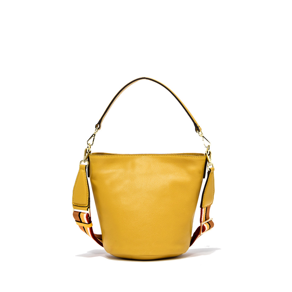 GIANNI CHIARINI: MEDIUM SIZE JACKY BUCKET BAG COLOR YELLOW