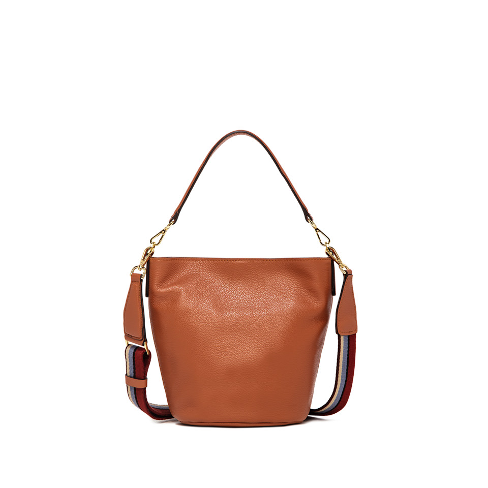GIANNI CHIARINI: NEW JACKY MEDIUM ORANGE BUCKET BAG