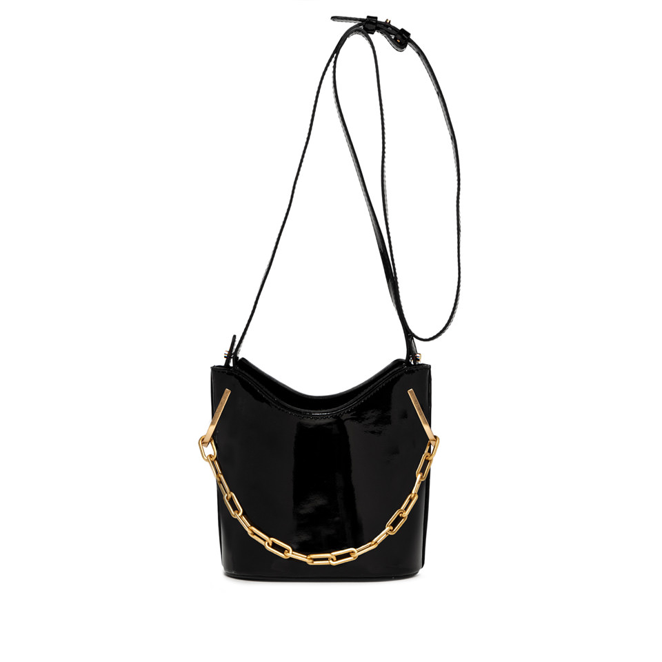 GIANNI CHIARINI: SOPHIA MEDIUM BLACK BUCKET BAG