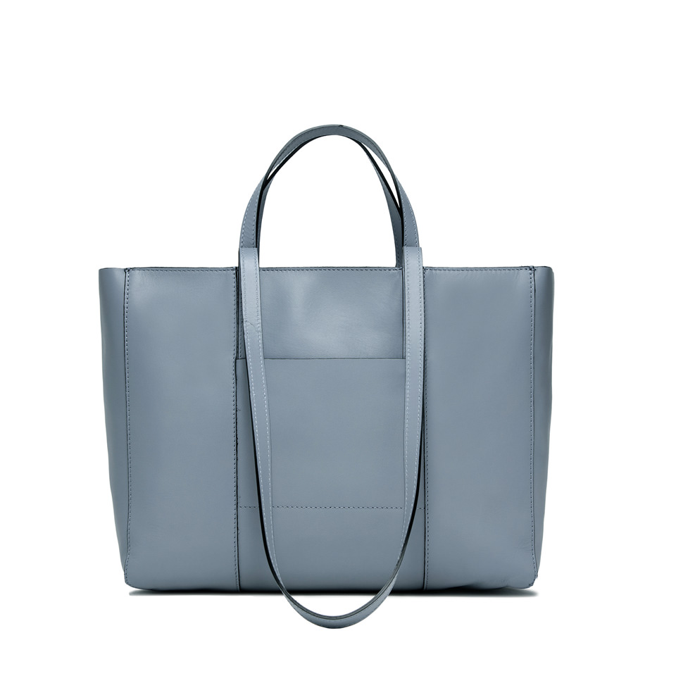GIANNI CHIARINI: MEDIUM SIZE SUPERLIGHT ZIP SHOPPING BAG COLOR LIGHT BLUE