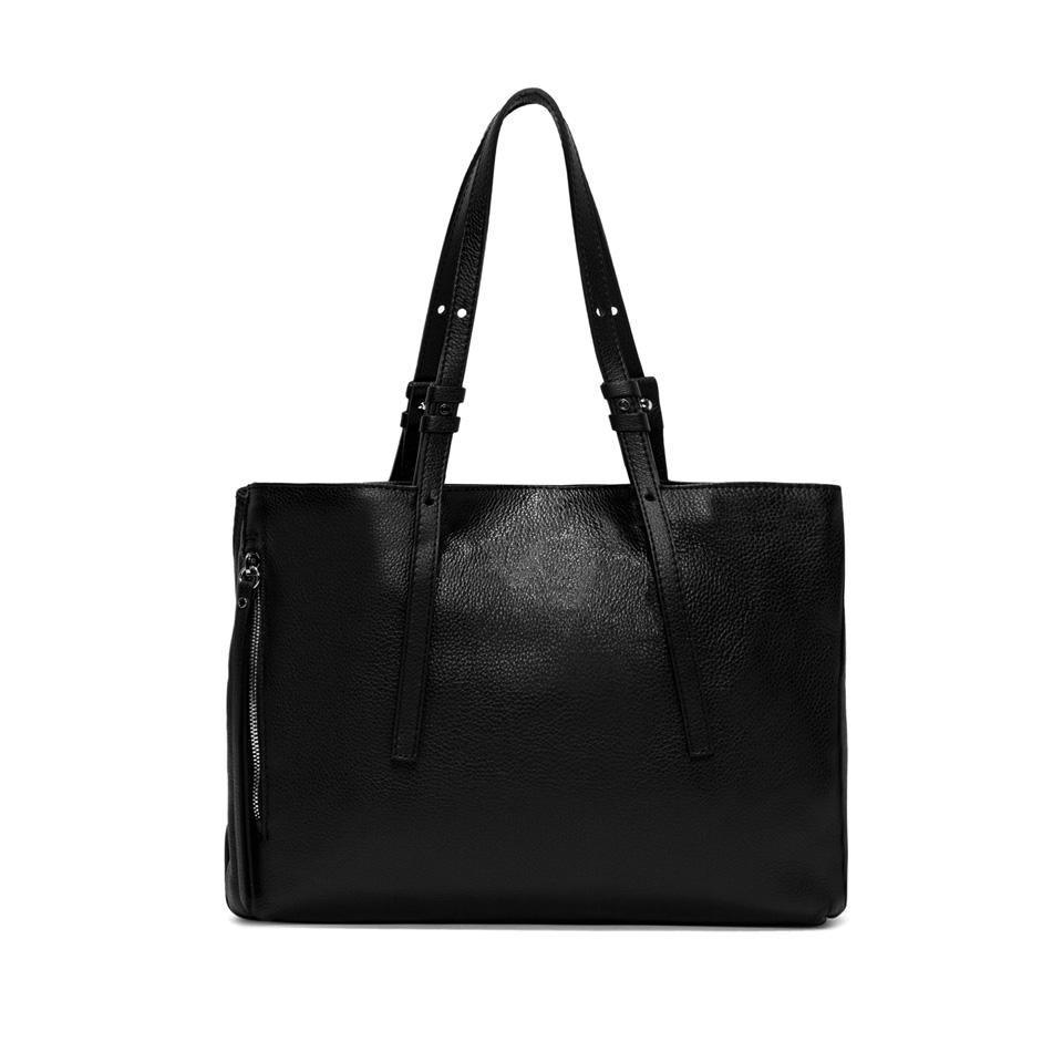 GIANNI CHIARINI: TWIN LARGE BLACK SHOPPING BAG