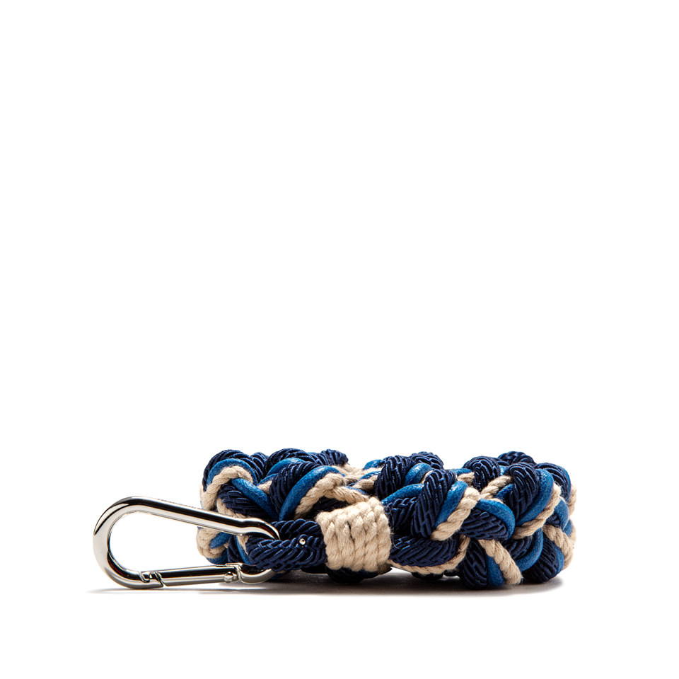 GIANNI CHIARINI: ROPE SHOULDER STRAP COLOR BLUE