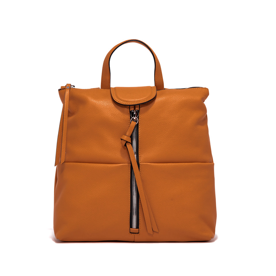 GIANNI CHIARINI: GIADA MEDIUM ORANGE BACKPACK