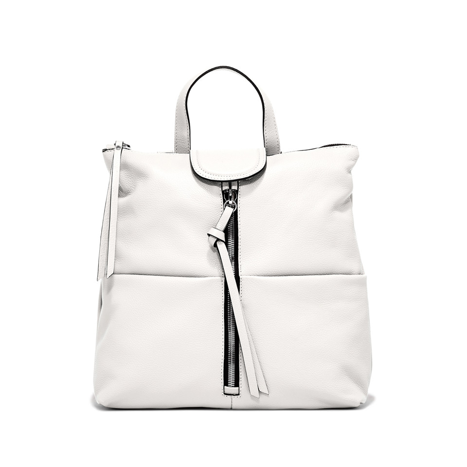 GIANNI CHIARINI: GIADA MEDIUM WHITE BACKPACK