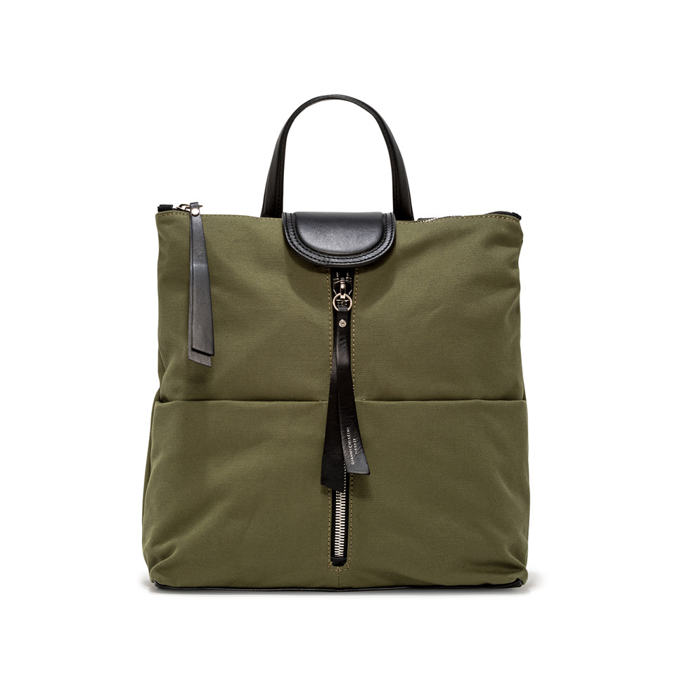 GIANNI CHIARINI: GIADA MEDIUM GREEN BACKPACK