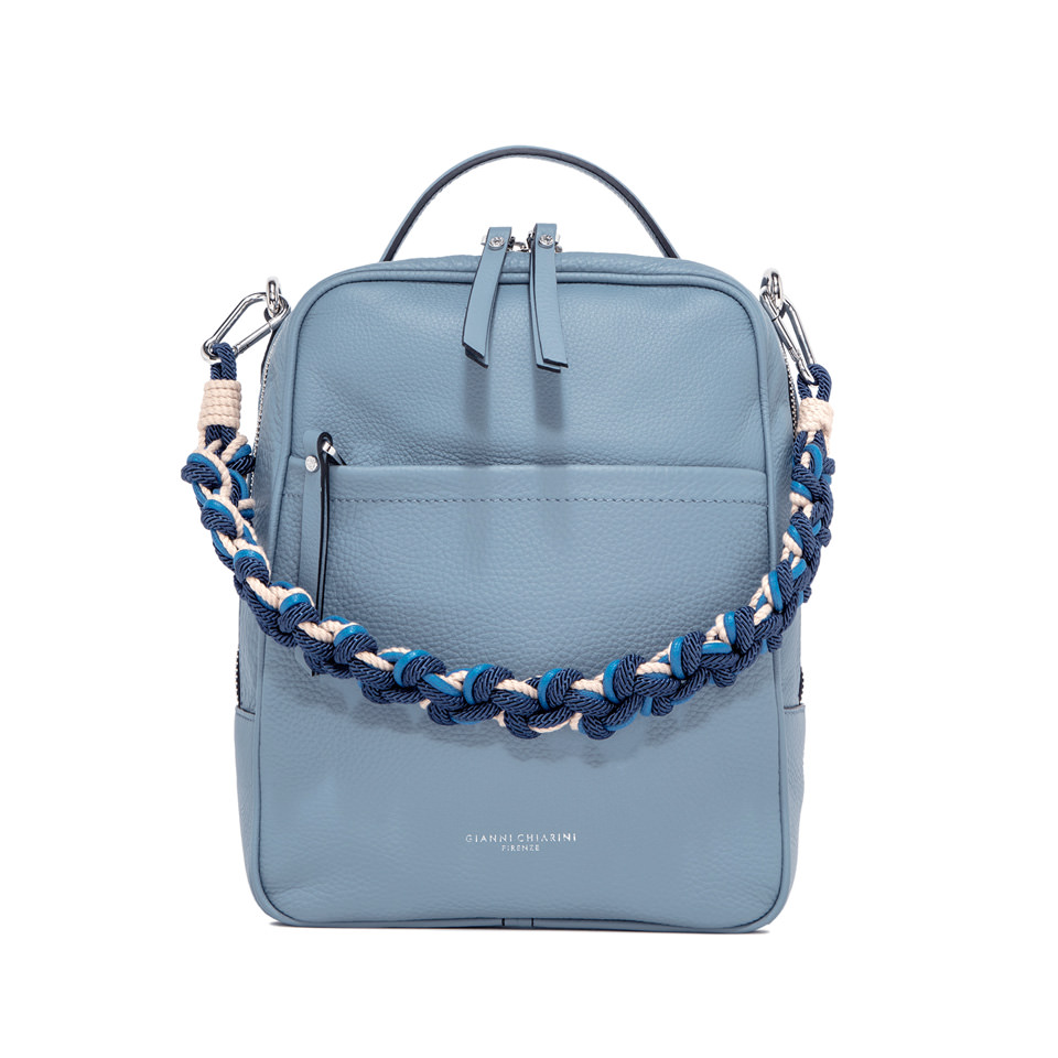GIANNI CHIARINI: LARGE SIZE RALLY BACKPACK COLOR LIGHT BLUE